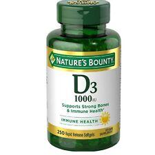 Nature's Bounty Vitamin D-1000 IU, Rapid Release Softgels 250 ea (Pack of 2)
