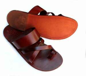 Leather Sandals Handmade & Leather Sole Conductive for Earthing Grounding size39