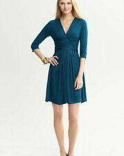 BANANA REPUBLIC Issa faux-wrap royal blue Kate Middleton engagement dress XS