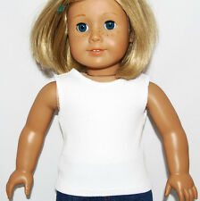 """WHITE RIBBED KNIT TANK TOP - Doll Clothes - fits 18"""" American Girl Dolls"""