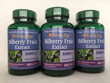 540 Softgels  Puritan's Pride Bilberry Fruit Extract 1000mg*Eyes Vision Health*