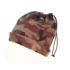 NEW CAMO CAMOUFLAGE FLEECE NECKWARMER HAT SNOOD SCARF FISHING
