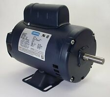 "2HP 1PH 115/230V 145T 1725RPM ODP 7/8"" SHAFT LEESON ELECTRIC MOTOR #120067"