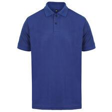 Mens Polo Shirt Plain Shirts Pique Tee New Golf Work Casual Cotton Blend