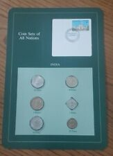 Franklin Mint Coin Sets of All Nations - India 6 Coins & Stamp