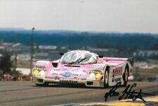 Hans Stuck SIGNED  Joest Racing Porsche 962C ,  Le Mans 24hrs 1989