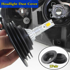 1Pair 38mm Car LED HID Xenon Lamp Rubber Housing Seal Cap Dust Cover Waterproof