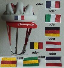 leather helmet Sturzring Flagge Initialen Sturzkappe Rennrad Nostalgie school 40