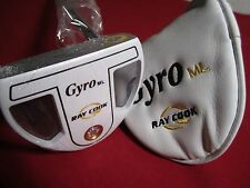 """Ray Cook Gyro Mallet Golf Putter - White - Right Handed - 34"""" NEW #Q0817"""