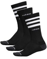 Adidas Mens Logo 3 Pk Crew Socks