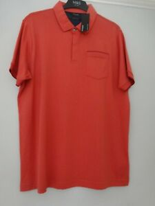 M&S MARKS & SPENCER AUTOGRAPH POLO T-SHIRT TOP UK SIZE XL