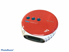 Sony Psyc Walkman D-Ej360 Red Portable Cd Player Rare Red and White Discman