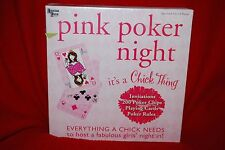 University Games Pink Poker Night Chicks Fabulous Females Party Game Free Ship