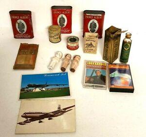 Huge Vintage Junk Drawer Advertising Lot Tins Bottles Boxes, Cards Figures Rare