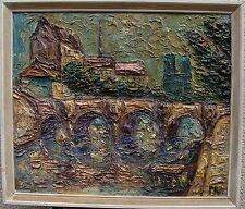 Preben Rasmussen*1919, Pont Neuf und Notre Dame, Paris, um 1950