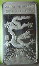 2012 Year of the Dragon Silver 1/2 oz 999 Fine Bar - Sealed