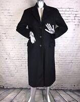 Nicole Farhi Dark Grey Wool + Cashmere Long Smart coat Jacket   U.K. 10   A43