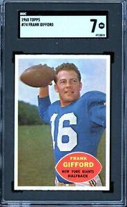 1960 Topps Football #74 Frank Gifford SGC 7
