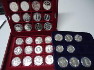FUSSBALL WM DEUTSCHLAND 2006 - Sammlung mit 32 verschiedenen Münzen, Silber, PP