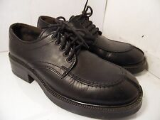 Reaction Kenneth Cole Black Leather Casual Oxfords Split Toe 56436 Mens Sz 8 D