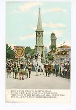 """Ride a Cock Horse"" Antique Royalty PC Banbury Cross—England Flag 1910s"