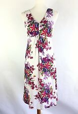 NWT $138 Tommy Bahama Womens Dress Size S White Pink Floral Sleeveless Sheath