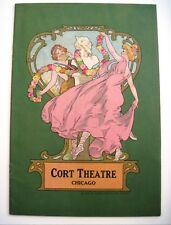 "1920 Theatre Program - ""Cort Theatre"" Chicago Lovely Cover w/Pan Playing Flute*"