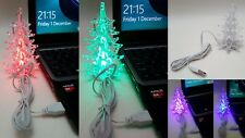 12cm USB LED Light Up Christmas Tree 7 Colour Changing Changes Office Car Home