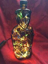 NEW Bling Electric LAMP 980ml KAHLUA Tiki Empty LIQUOR BOTTLE Multi Colored LED