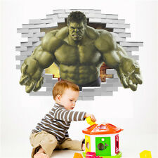 3D Hulk Green Giant Avengers Wall Sticker Child Room Decor Decals Removable HOT