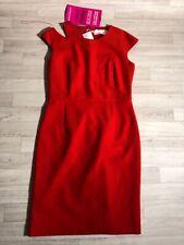 Hugo Boss Dress Ladies Shift Sheath Dress Orange Shoulder Strappy UK12 IT44 DE40
