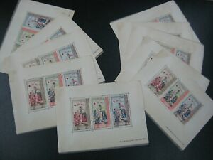 Laos 1963 Sc #85-87 Red Cross Stamps Sheet MNH X10 nos
