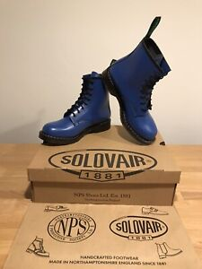 NPS SOLOVAIR Electric Blue Leather 8 Eye Derby Boot! SizeUK10! New!Only £149.90!