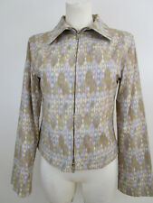 Cavalli Jeans Damen Jacke Blouson Printjacke It. 42 Dt. 36 Kurz Tailliert Jacket