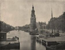 AMSTERDAM. The Montelbaanstoren. Amsterdam 1895 old antique print picture