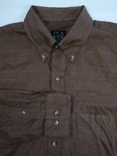 Jos A Bank Men's Bronze Black Check Long Sleeve Button-Front Shirt Size Large