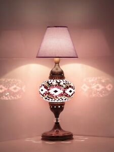 NEW DESIGN Turkish mosaic bedside table lamp 3 modes on off swich.