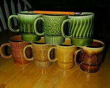 Japanese coffee mug set 1970's (7pcs) Rare