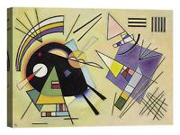 Wassily Kandinsky Nero e violat Stampa su tela Canvas effetto dipinto