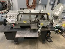 Wellsaw 1016 Capacity Horizontal Band Saw Coolant System 1 Phase Withroller Table