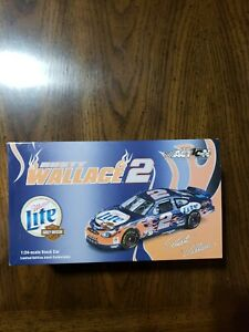 Rusty Wallace #2 Miller Lite/Harley Davidson 2002 Taurus 1:24 scale Action NASCA