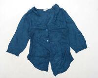Angeli Martinero Womens Size L Blue Cardigan (Regular)