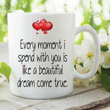 Love Mug Dream Come True Valentines Girlfriend Boyfriend Coffee Cups WSDMUG627