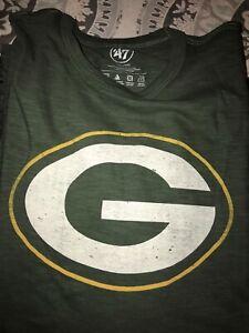 Green Bay Packers 47 Brand Green Scrum Logo SS T-shirt XXL