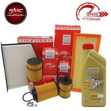KIT TAGLIANDO SPEED VW POLO 6R 6C 1.6 TDI 90CV 66KW DAL 2009 + CASTROL LL 5W30