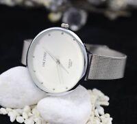Damen Armbanduhr in Silber