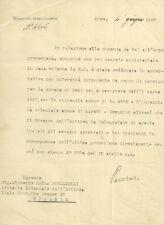 Ministero delle Colonie Documento Autografo Antonino Pecoraro Lombardo 1920