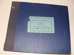 Our American Heritage Prose Album I set of 6 78rpm Columbia E Records very Rare