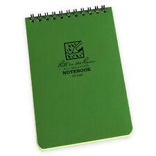 Rite In The Rain 935 Waterprooof Pocket Top Spiral Notebook Notepad 3x5 Green