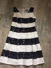 Phase Eight Wedding Formal Bea Stripe Dress uk 16 Nautical Inspired